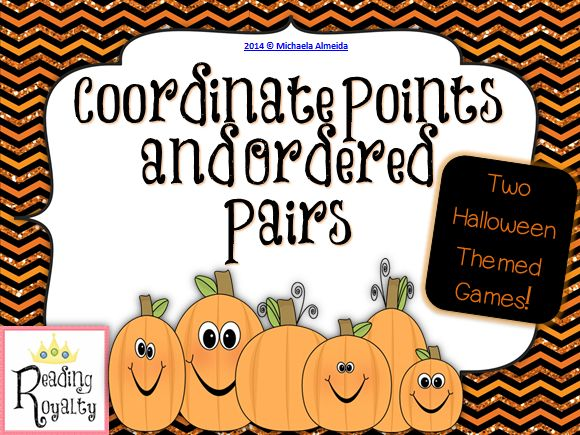 Two Halloween themed center games focusing on finding and plotting coordinate points. $3.00 - Michaela Almeida, Reading Royalty