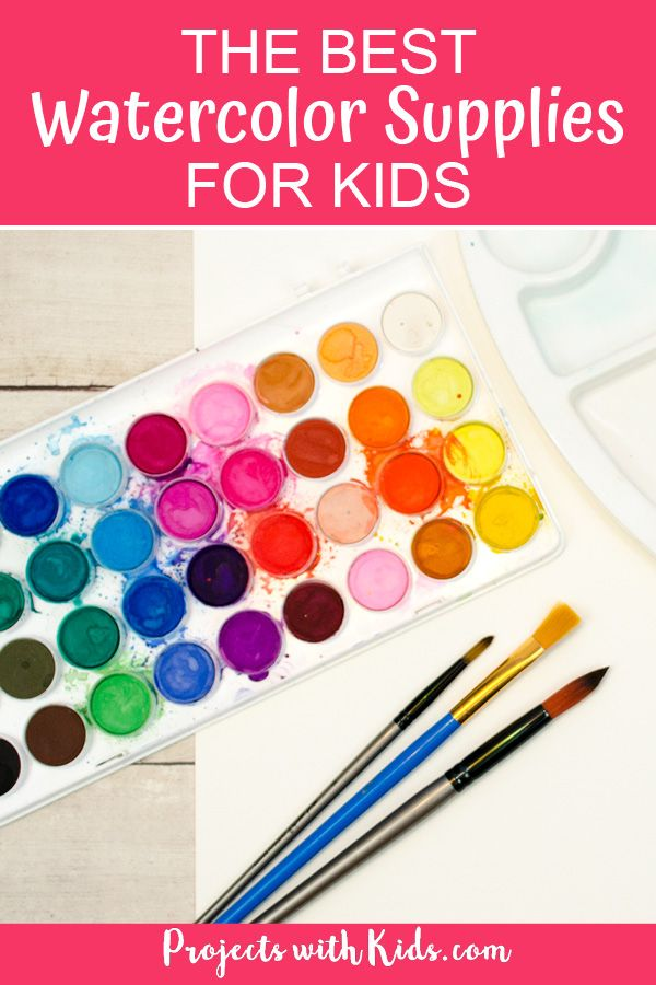 The Best Beginner Watercolor Supplies For Kids Painting For Kids
