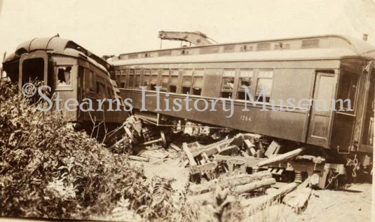 Canadian Pacific Train Wreck,Cold Spring, MN ca.1920 #trainwreck #Minnesota #historicphoto