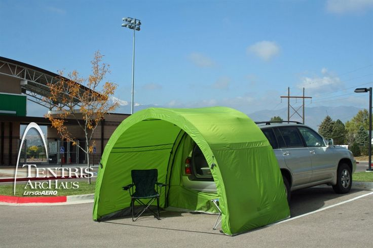 This tailgate and living shelter tent is made for mid-to-large vehicles including SUVs, pick up trucks Sprinter RVs, and just about anything in between. Use as