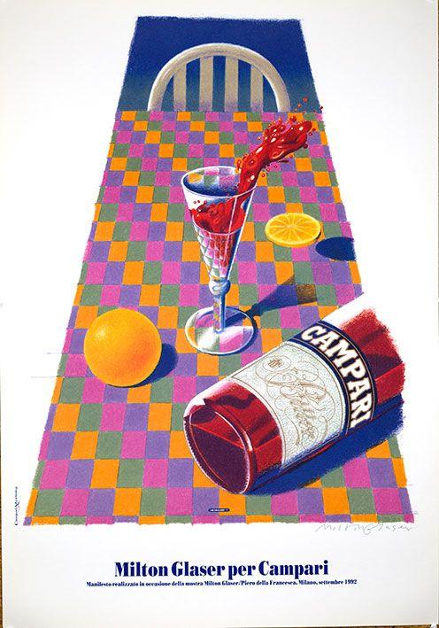 Affiche pour Campari par Milton Glaser en 1992