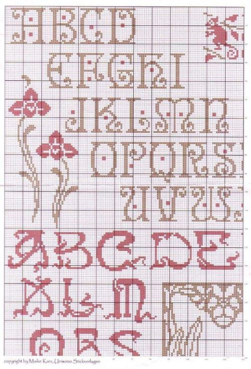 (2) Gallery.ru / Фото #58 - Сэмплеры и алфавиты - uiglon alphabet arts and crafts cross stitch
