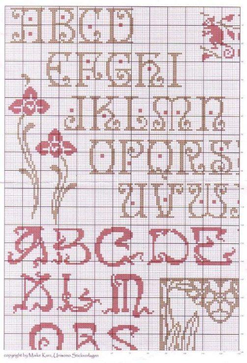 (2) Gallery.ru / Фото #58 - Сэмплеры и алфавиты - uiglon alphabet arts and crafts cross stitch