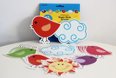 New Happy Birds Accents from Barker Creek Publishing - $5.99 for pack of 36.