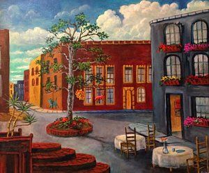 Painting - Mexico Early Morning by Randol Burns
