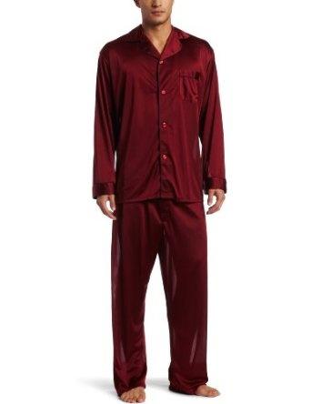 Intimo Men`s Tricot Travel Pajama Set