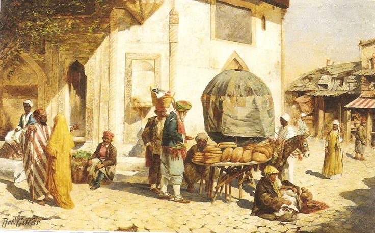 The bread seller.  North Africa.