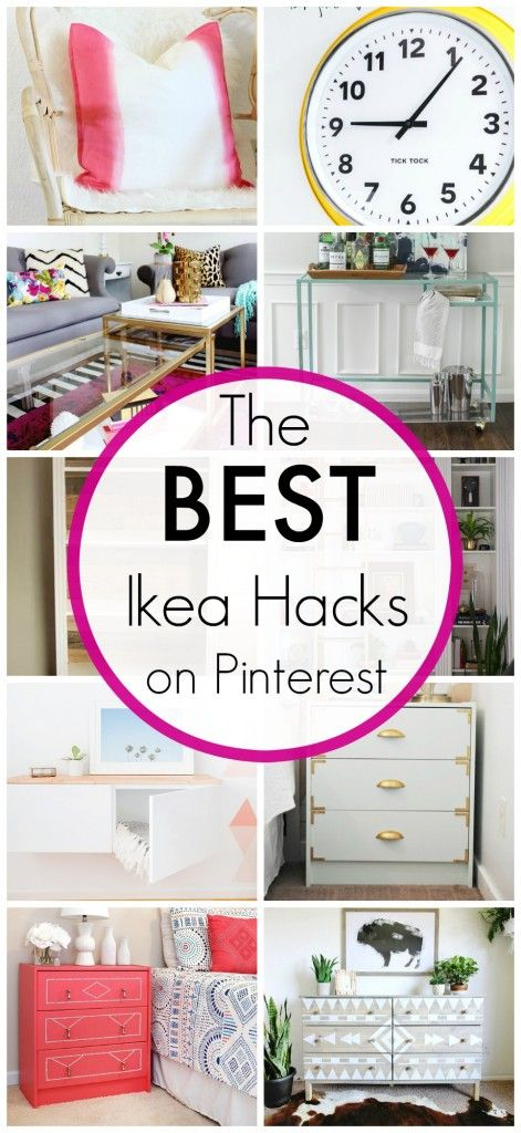 The BEST Ikea hacks on Pinterest - Click for ideas!