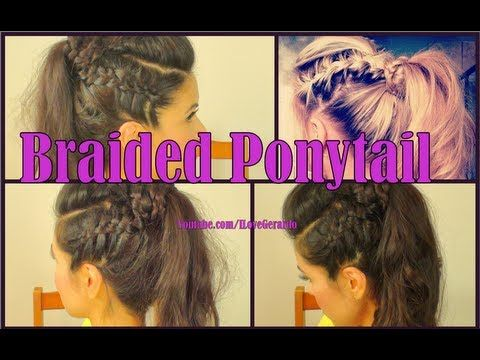 Braided Pony Tail Tutorial by ILoveGerardo. This is such a great way to spice up your ponytail and it looks absolutely stunning !