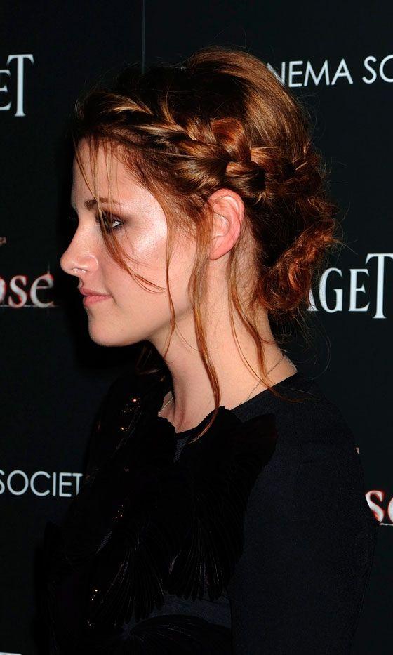 Kristen Stewart's Pretty Plait Hairstyle At The New York Premiere Of Eclipse, June 2010