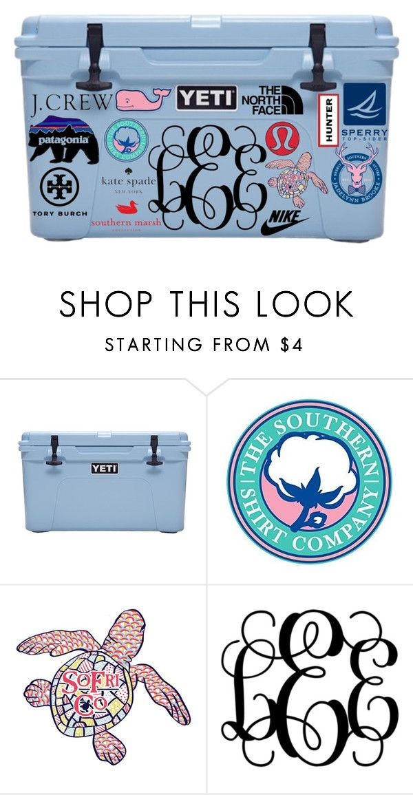 """Yeti Cooler Contest"" by a-little-prep-in-your-step ❤ liked on Polyvore featuring Hunter, Sperry Top-Sider, Tory Burch, Southern Proper, The North Face, Kate Spade, J.Crew, lululemon, Vineyard Vines and women's clothing"