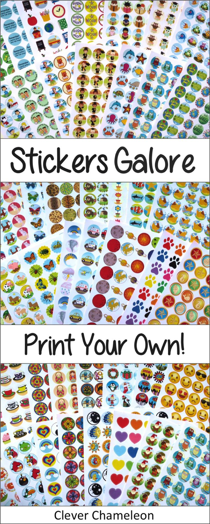 Print Your Own! 60 Printable Sticker Templates for Online Labels OL3012
