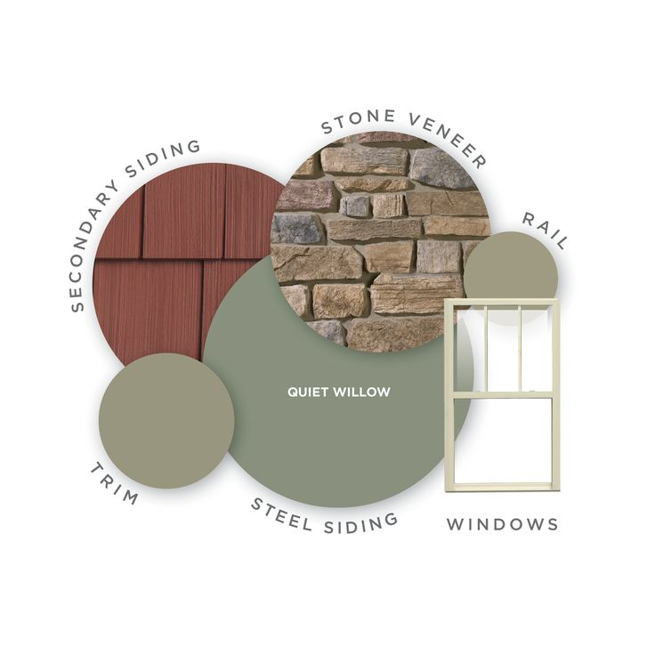 Steel Siding | Color: Quiet Willow | Steel siding offers an infinite number of siding colors for your home. Click through to see more color options.