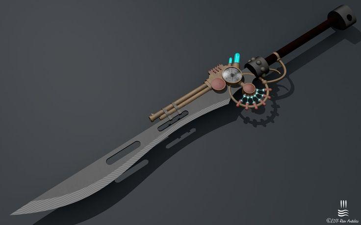 Steampunk Jetgun Sword by Irolan on DeviantArt