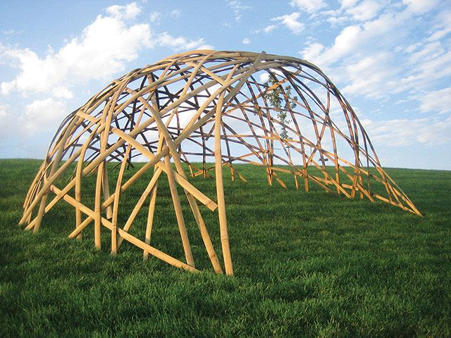 Bamboo shelter Bamboo is ideal to build strong, simple shelters that can be erected quickly and easily. It can be harvested locally in some areas then split, or it can be imported. Tarpaulin, plastic sheeting or branches and leaves can be used to make these shelters waterproof. Cost: depends on availability of bamboo