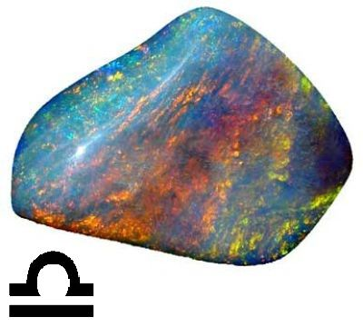 Камни талисманы созвездия Весов     Опал и лазурит