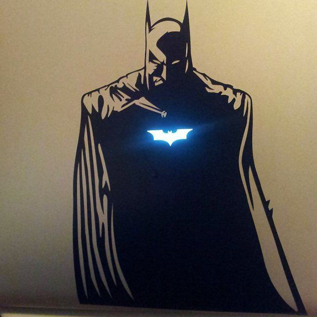 If you don't think this Batman MacBook sticker is awesome then you've been hit in the head with a brick. I wonder if there's one for Iron Man?