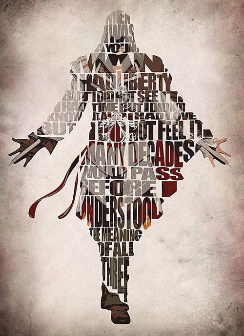 Superheroes y Personajes de películas en version tipografica