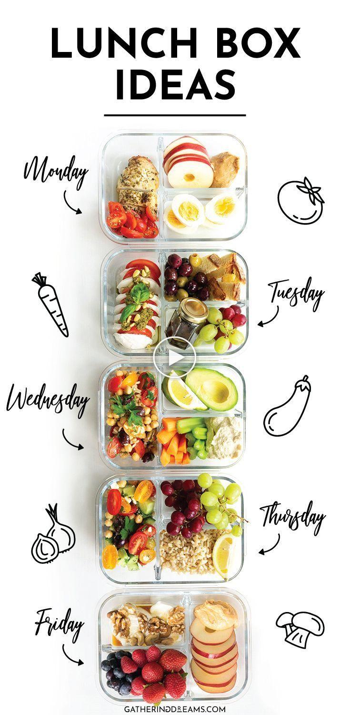 5 Ideas Rapidas Y Faciles De La Lonchera Perfectas Para Preparar Comidas Quick Easy Lunch Recipes Make Ahead Lunches