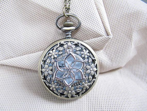 The Hobbit The Hobbit Galadriel fairy queen water pocket watch necklace steampunk antique jewelry on Etsy, $5.00