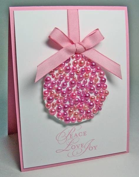 Pink Pearl Ornament Card