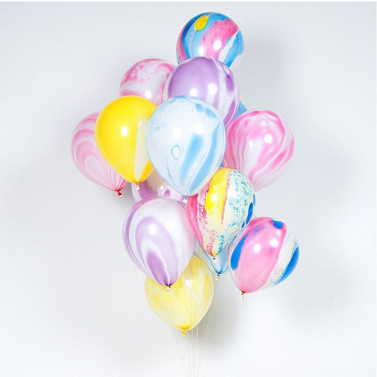 Create that perfect tie-dye effect and fill your celebration with color with these bold, marble pattern rainbow balloons. Each balloon comes with a gold metallic tie. Use them for all your themes and