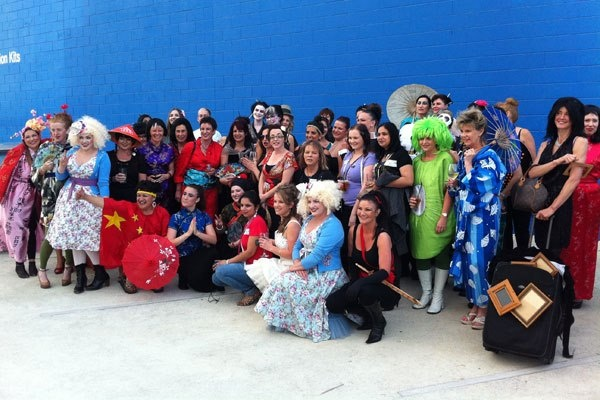 Our entire team at last years Christmas party all dressed up for China theme!