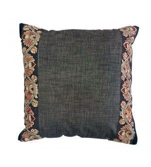 Kalamkari Black Cushion Cover