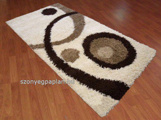 Shaggy krém barna 700 szőnyeg 160x220 cm