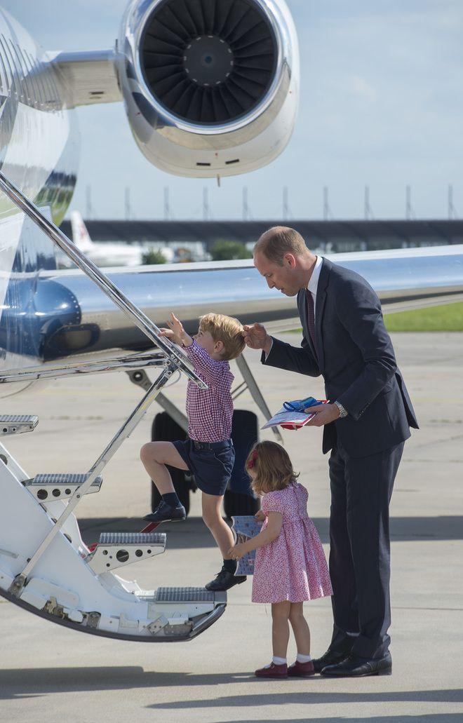 Принц Джордж, принцесса Шарлотта и принц Уильям