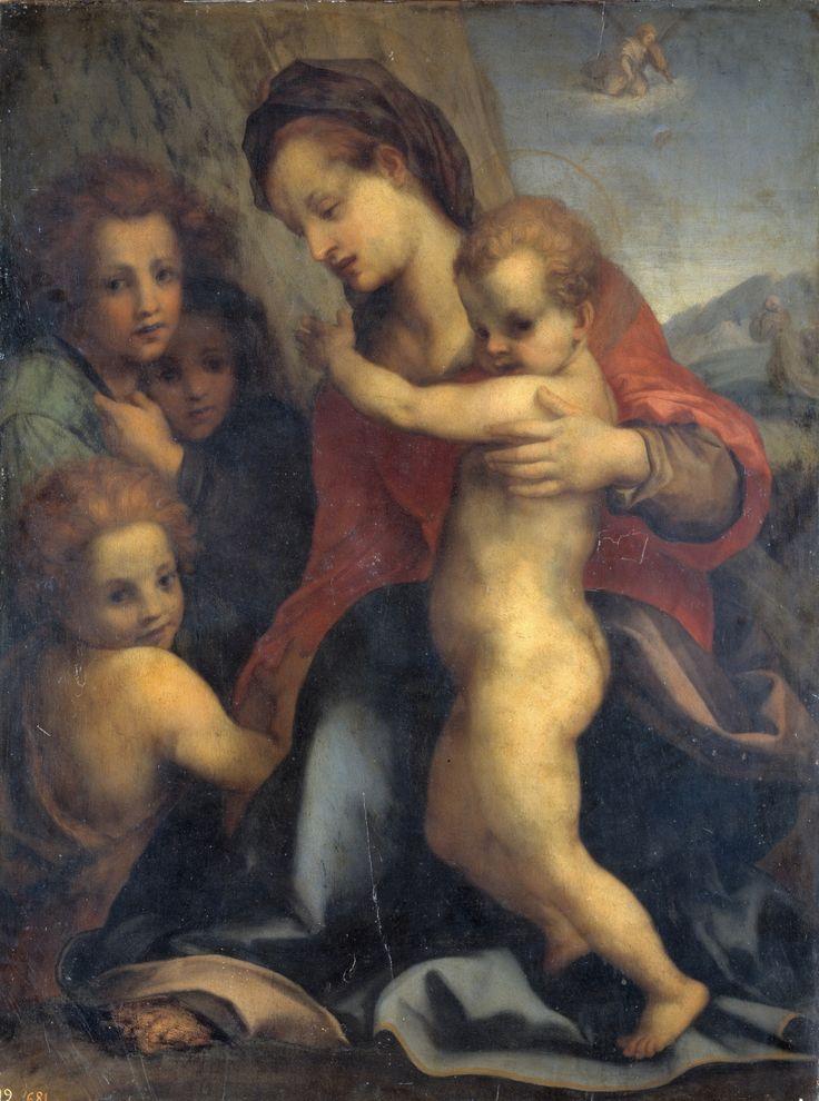 The Virgin with the Child, Saint John and Angels / La Virgen con el Niño, San Juan y ángeles // 16th C. // Copy after Andrea del Sarto // Museo del Prado