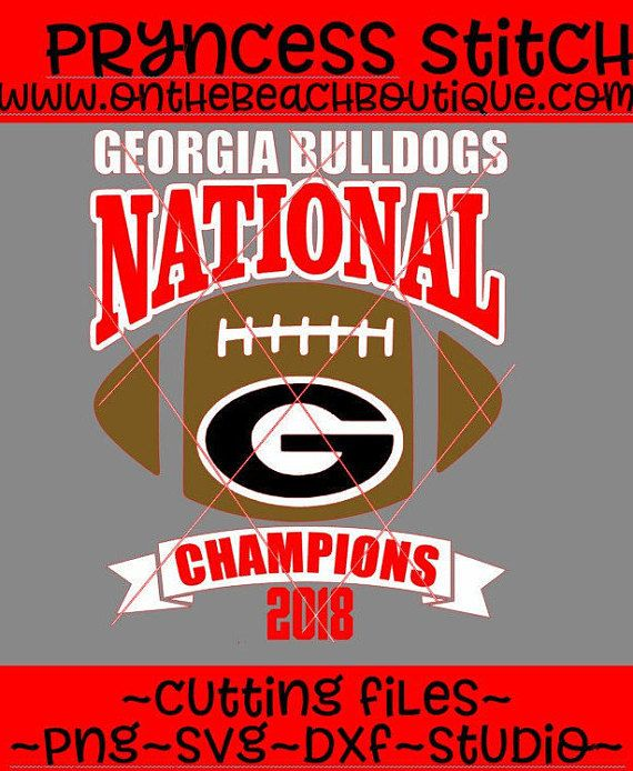National Championship Georgia Bulldogs SVG DXF PNG ncaa