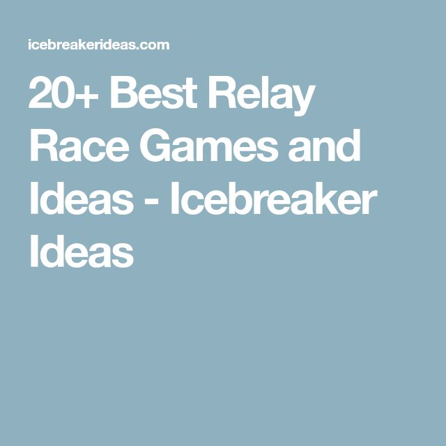 20+ Best Relay Race Games and Ideas - Icebreaker Ideas