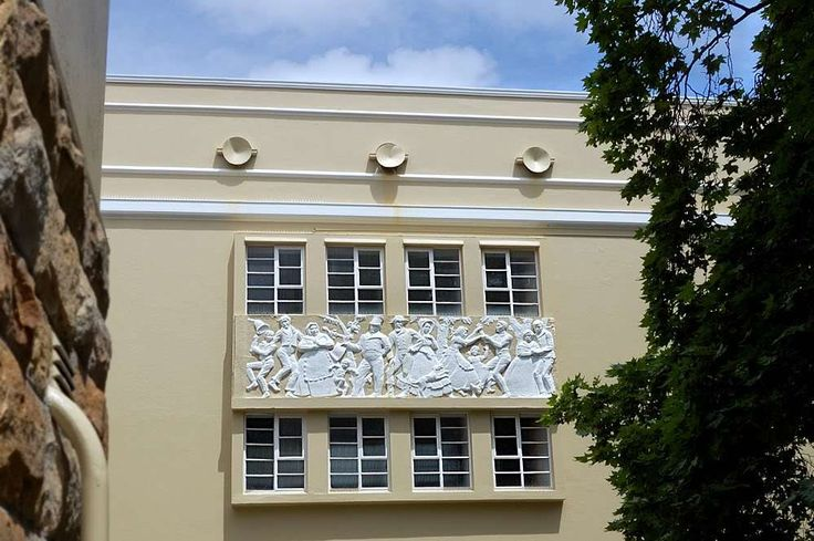 "Mitford-Barberton's  ""Emancipation of the Cape slaves"" on one side of the Memorial Hall, RBHS"