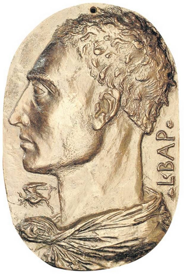 "Self Portrait - Leon Battista Alberti.  1435.  Bronze medallion.  8 x 5 1/2"".  National Gallery of Art, Washington DC."