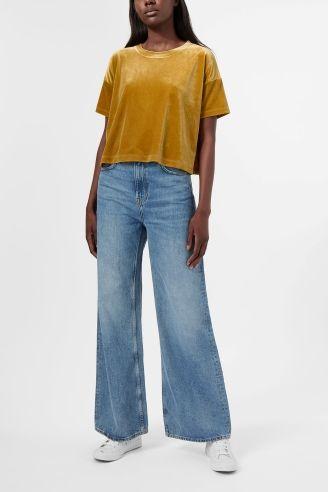 Weekday image 4 of Elena T-shirt in Yellow Greenish Dark