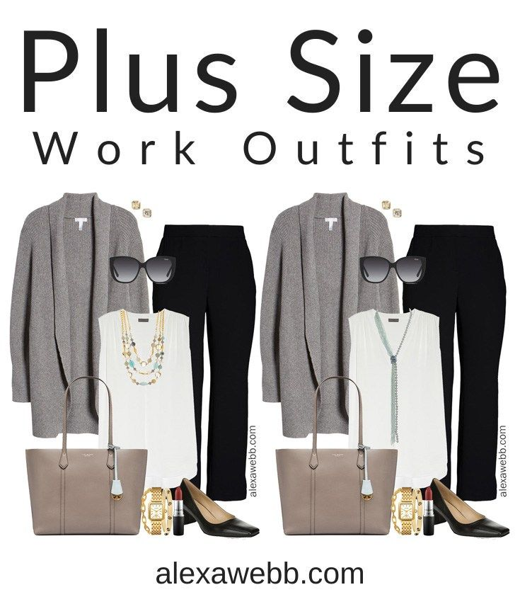 cute office outfit round bag plus grey