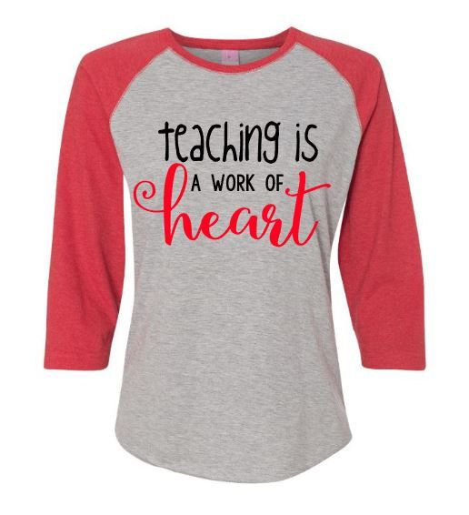 Teacher Shirt ~ Teacher Heart Shirt ~ Matching Teacher Shirts ~ School Shirt  ~ Teacher Gift ~ School Staff Shirts ~ Teaching A Work Of Heart