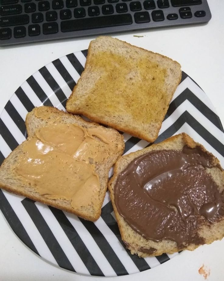 #penutbutter #chocolate #butter toasts morning breakfast