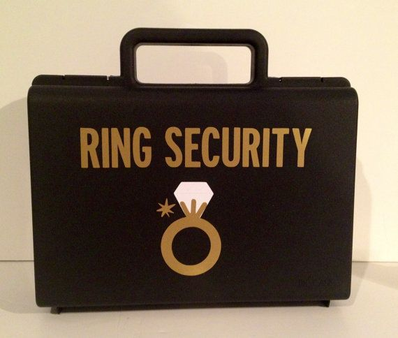 Cute idea for ring bearer!   Ring Security Ringbearer gift Ring Agent Ring by PersonalizedMom, $14.95