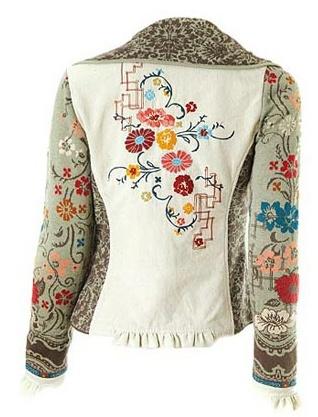 Ivko-Embroidered (back) & elaborately woven jacket.