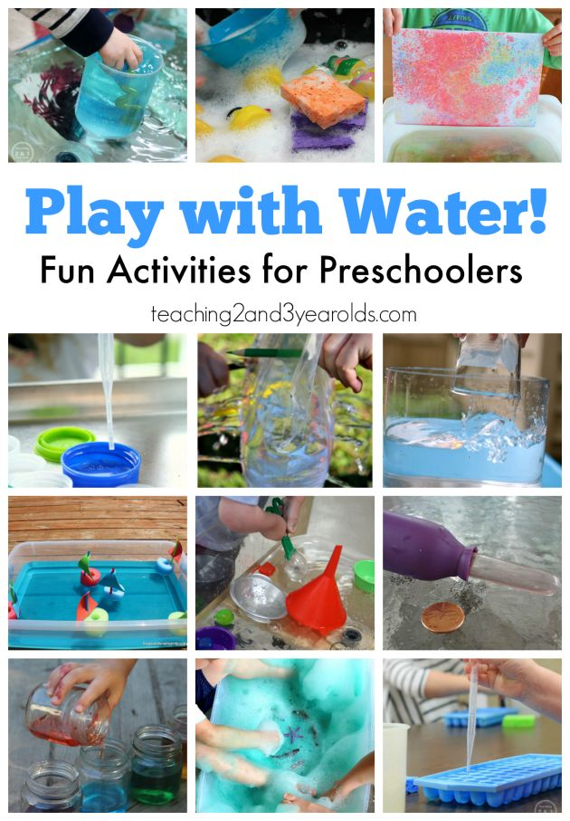 Water activities for preschoolers - fun ways to explore! Teaching 2 and 3 Year Olds