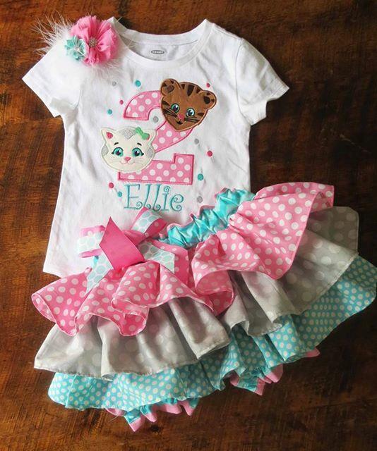 "Ellie's ""Daniel tiger"" birthday girl outfit"