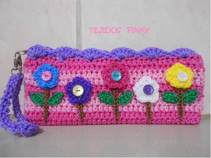 Cartuchera bolsos tejidos pinterest - Bolsos tejidos a crochet ...