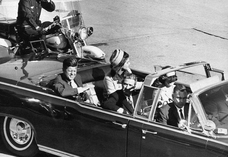 John F. Kennedy moments before his assassination.