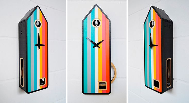 Color-House Cuckoo Clock by Pedro Mealha