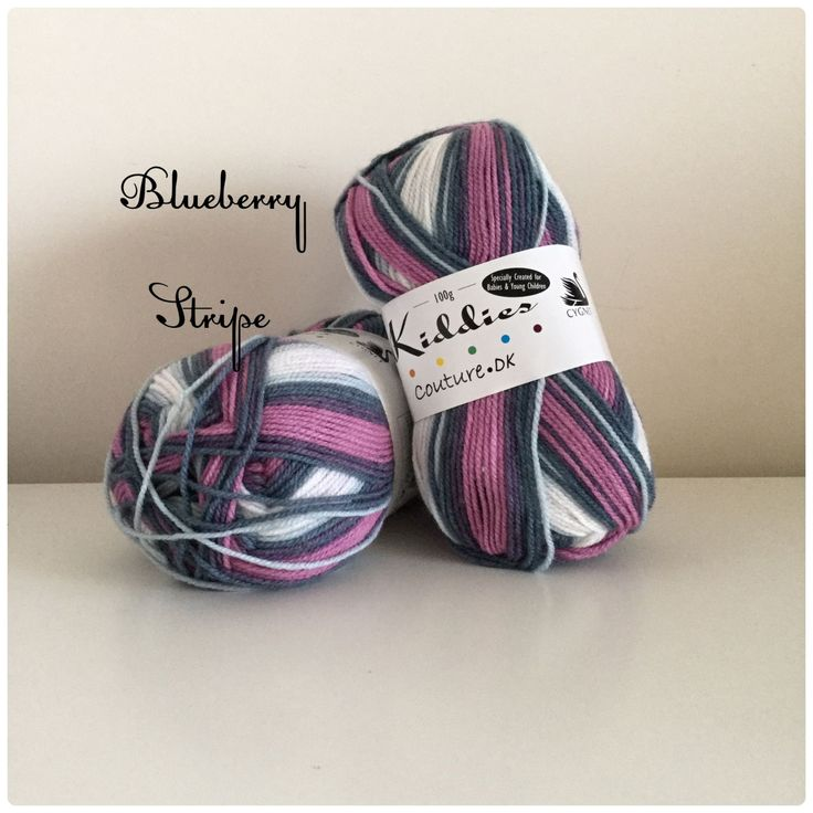 With My Handz - Kiddies Couture DK Prints is a self-striping yarn available in bright and bold shades. With easy care an