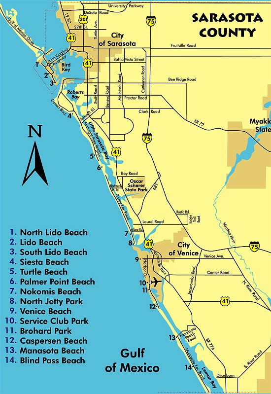 Sarasota Beaches Map Books Worth Reading Pinterest Siesta Key Lido Beach And