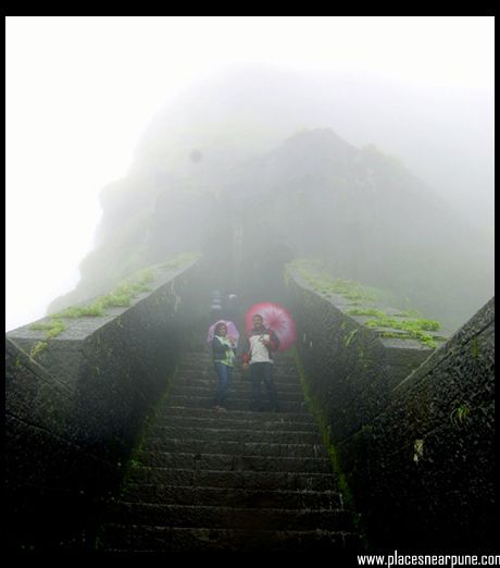 On the way up to Lohagad Fort
