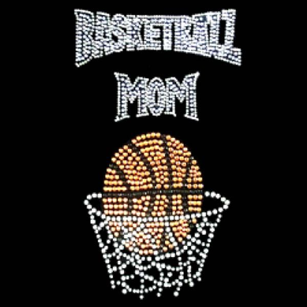 sports mom basketball mom ii tan rhinestone t shirts 2500 click - Basketball Pictures To Color 2